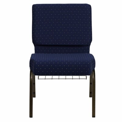 Taylor Extra Wide Dot Patterned Guest Chair Seat Color: Navy Blue