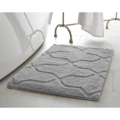 Bekasi Bath Mat Size: 32 x 20, Color: Light Gray