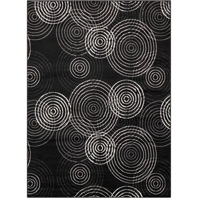 Densmore Black Area Rug Rug Size: Rectangle 53 x 73