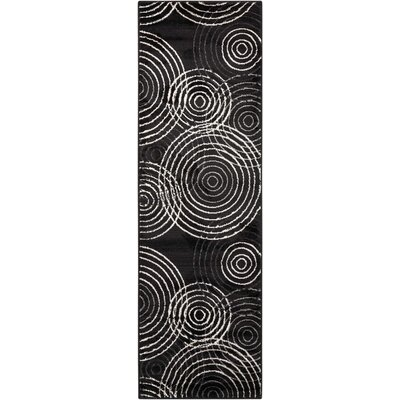Densmore Black Area Rug Rug Size: Runner 22 x 73