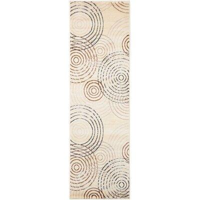 Densmore Geometric Ivory Area Rug Rug Size: Runner 22 x 73
