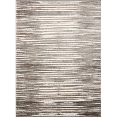 Brady Ivory/Gray Area Rug Rug Size: Rectangle 53 x 73