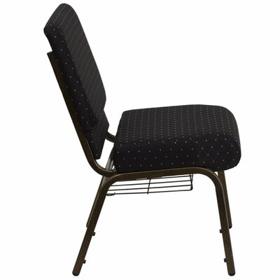 Taylor Extra Wide Dot Patterned Guest Chair Seat Color: Solid Black