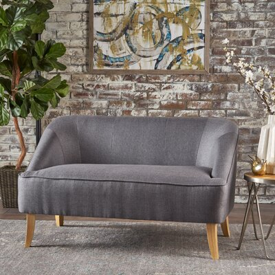 Balducci Loveseat Upholstery: Dark Gray
