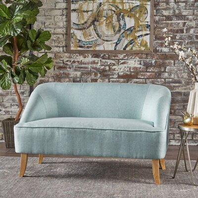 Balducci Loveseat Upholstery: Light Blue