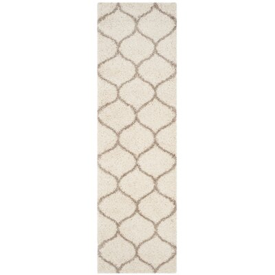 Tate Ivory/Beige Area Rug Rug Size: Runner 23 x 14