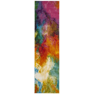Ciara Orange/Green Area Rug Rug Size: Runner 22 x 6