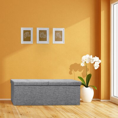 Earl Ottoman Upholstery: Light Gray