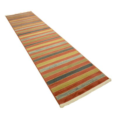 Bishop Red Area Rug Rug Size: Runner 3 x 10