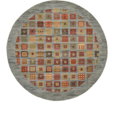 Bishop Blue/Green Area Rug Rug Size: Round 6