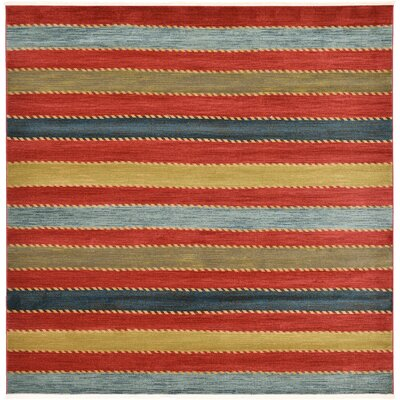 Bishop Red Area Rug Rug Size: Square 10