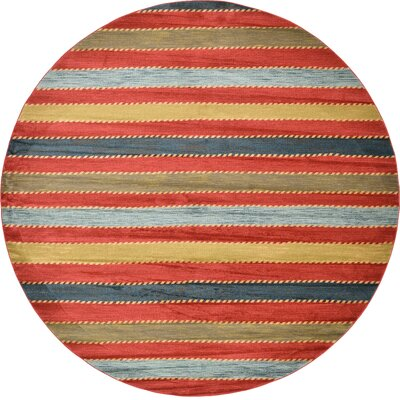 Bishop Red Area Rug Rug Size: Round 122
