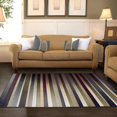 Azaleh Corona Black/Gray Area Rug Rug Size: 4 x 6