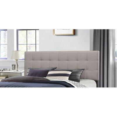 Decker Upholstered Panel Headboard Size: Full/Queen, Upholstery: Stone