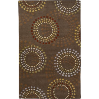 Dewald Chocolate/Gold Area Rug Rug Size: Rectangle 5 x 8