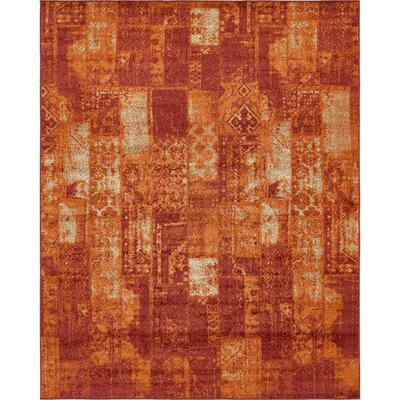 Bannan Stain-Resistant Terracotta Area Rug Rug Size: Rectangle 5 x 8