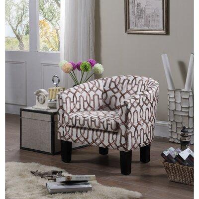 Ballew Barrel Chair Upholstery : Vintage Brown
