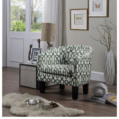 Ballew Barrel Chair Upholstery : Olive Green