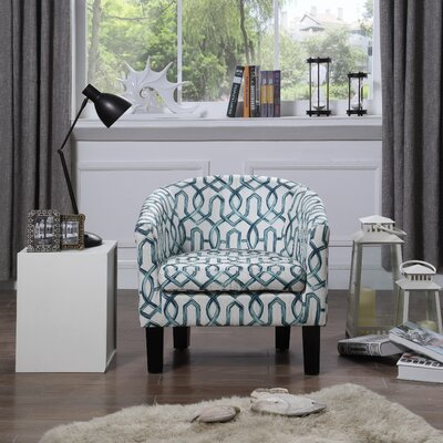 Ballew Barrel Chair Upholstery : Teal