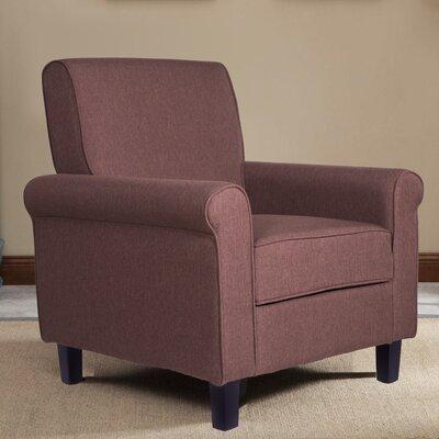 Elmwood Simple Solid Armchair Upholstery: Sienna