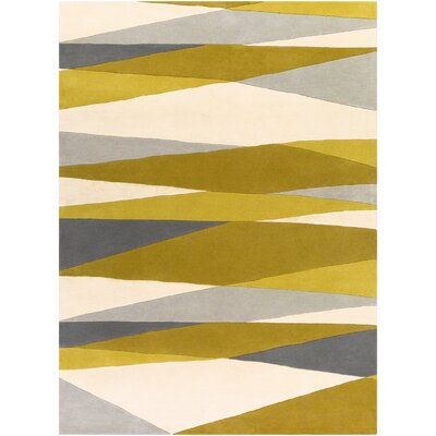 Dewald Hand-Tufted Green/Neutral Area Rug Rug Size: Rectangle 8 x 11