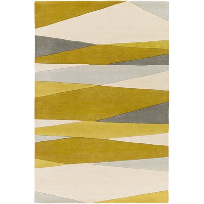 Dewald Hand-Tufted Green/Neutral Area Rug Rug Size: Rectangle 5 x 8