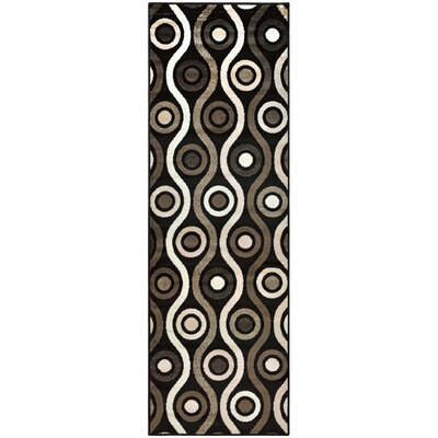 Azaleh Archer Black Area Rug Rug Size: Runner 27 x 8