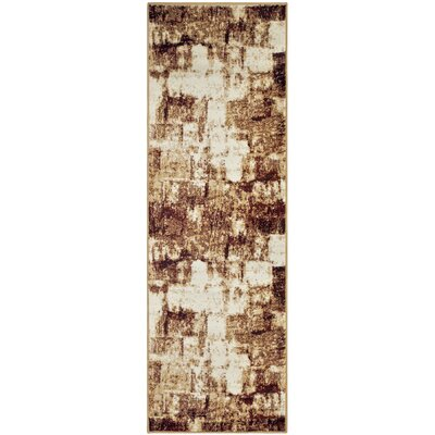 Azaleh Distressed Film Maroon Area Rug Rug Size: Runner 27 x 8