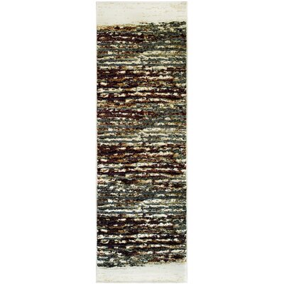 Azaleh Terrain Red/Gray Area Rug Rug Size: Runner 27 x 8
