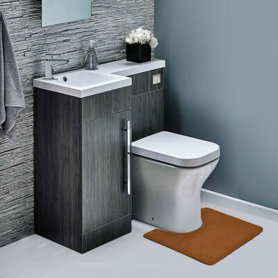 Ashland Memory Foam Contour Mat Color: Chocolate Brown