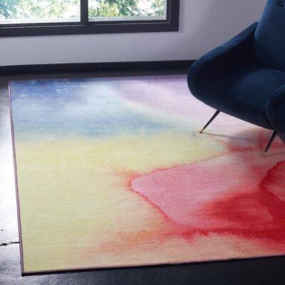 Daphine Paint Brush Fuchsia/Yellow Area Rug Rug Size: Rectangle 51 x 76