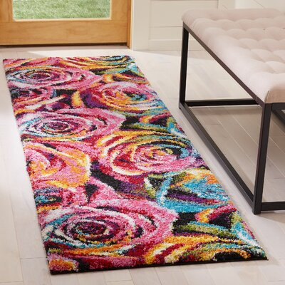 Cleveland Fuchsia Area Rug Rug Size: Runner 23 x 8