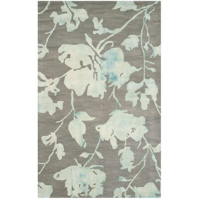 Danny Gray/Turquoise Area Rug Rug Size: Rectangle 5 x 8