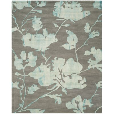 Danny Gray/Turquoise Area Rug Rug Size: Rectangle 8 x 10