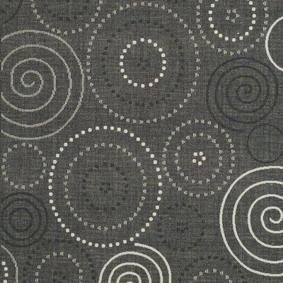 Mullen Black/Sand Circle Outdoor Rug Rug Size: Rectangle 67 x 96