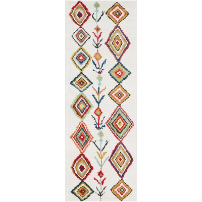 Elissa Boho White/Orange Area Rug Rug Size: Rectangle 2 x 3
