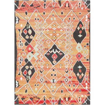 Elissa Boho White/Pink Area Rug Rug Size: Rectangle 53 x 73