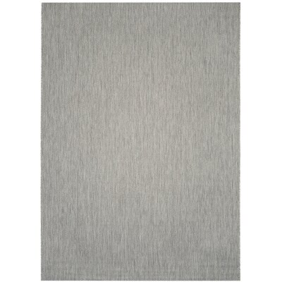 Mullen Gray / Navy Indoor/Outdoor Area Rug Rug Size: Rectangle 8 x 11
