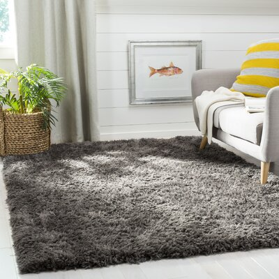 Stoffel Charcoal Area Rug Rug Size: Rectangular 4 x 6