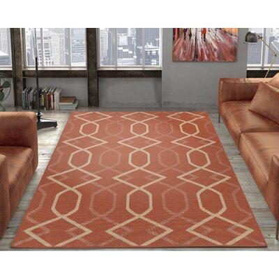 Hooper Terracotta Indoor/Outdoor Area Rug Rug Size: 53 x 73