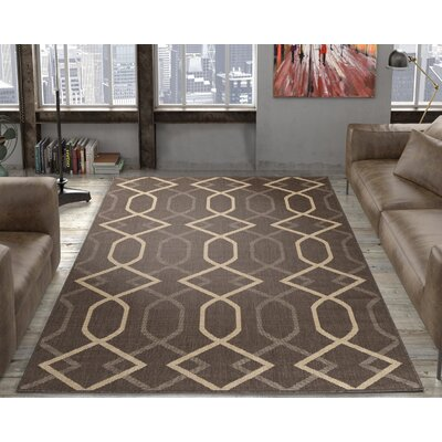 Hooper Mocha Indoor/Outdoor Area Rug Rug Size: 53 x 73