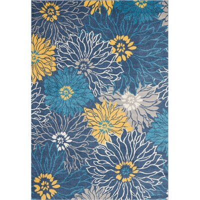Cloutier Blue Area Rug Rug Size: Rectangle 67 x 96