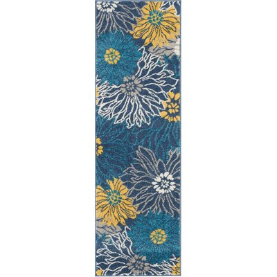 Cloutier Blue Area Rug Rug Size: Runner 11 x 6