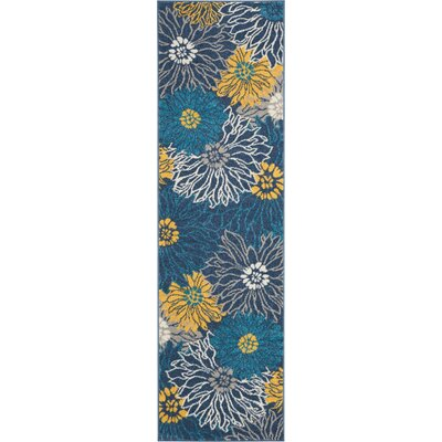 Cloutier Blue Area Rug Rug Size: Runner 22 x 76