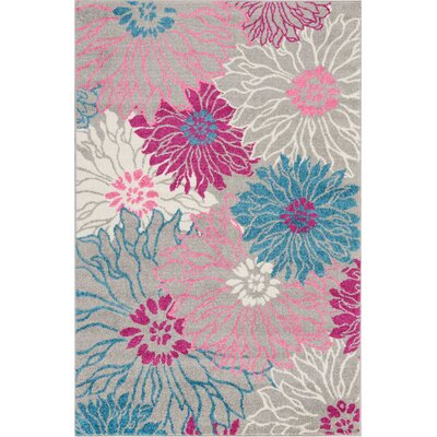 Cloutier Gray Area Rug Rug Size: Rectangle 39 x 59