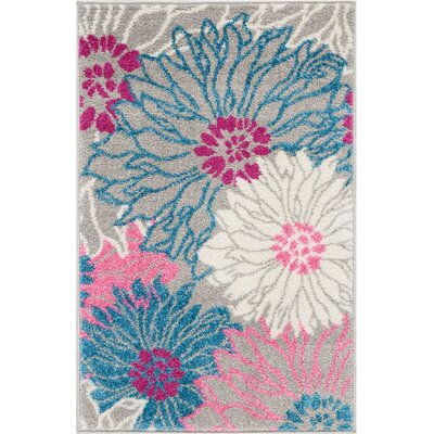 Cloutier Gray Area Rug Rug Size: Rectangle 110 x 210