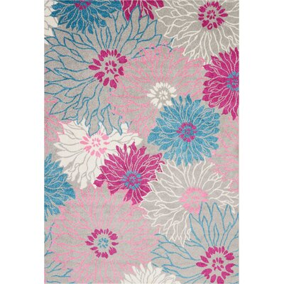 Cloutier Gray Area Rug Rug Size: Rectangle 67 x 96