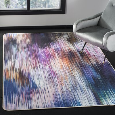 Ellesmere Purple Area Rug Rug Size: Rectangle 51 x 76