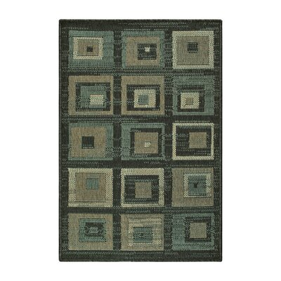 Dory Indoor/Outdoor Green/Brown Area Rug Rug Size: Rectangle 2 x 3