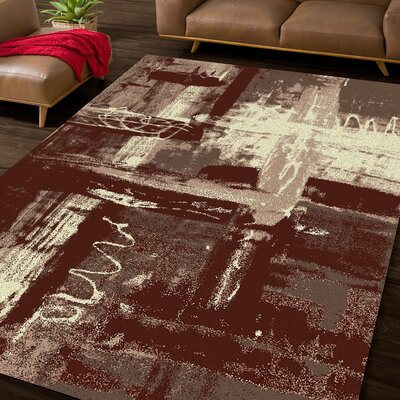 Dru Brown/Beige Area Rug Rug Size: 5 x 75